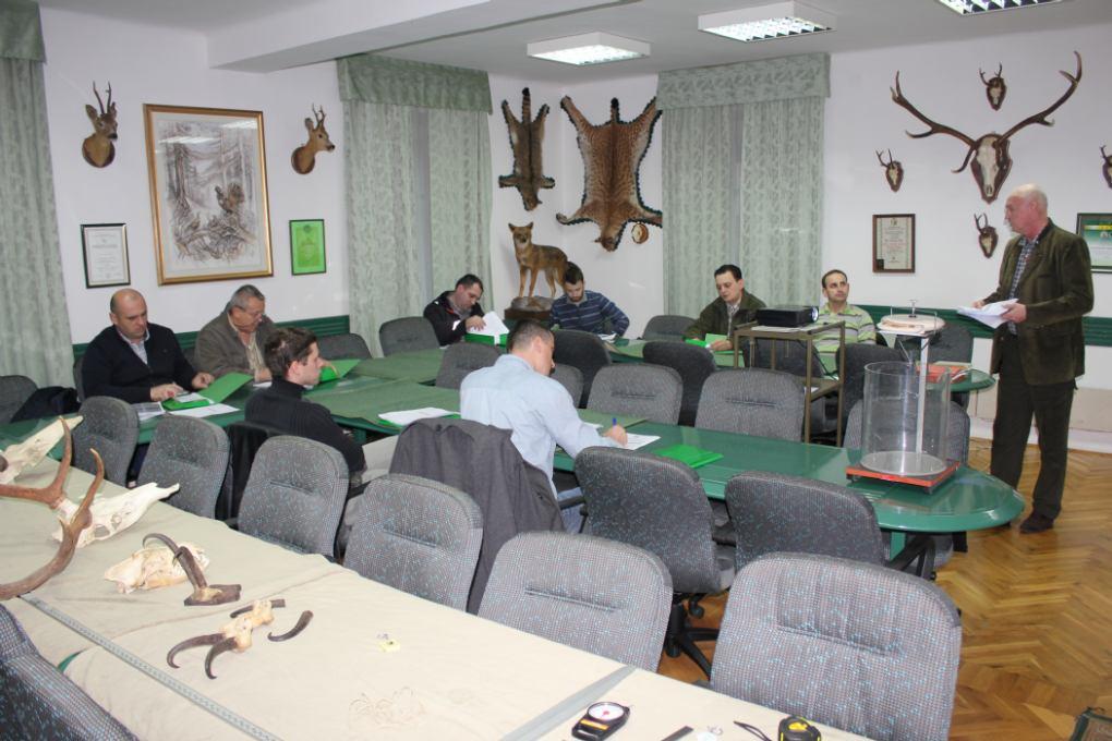 Početak predavanja za ocjenjivače lovačkih trofeja