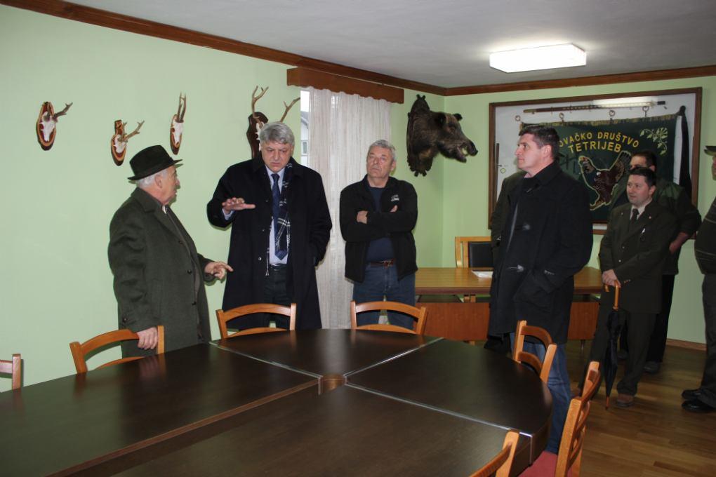 Posjet župana Zlatka Komadine čabarskim lovcima