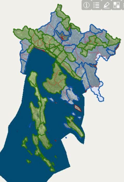 Karte lovišta Primorsko-goranske županije (GIS)